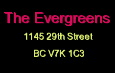 The Evergreens 1145 29TH V7K 1C3