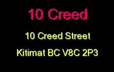 10 Creed 10 CREED V8C 2P3