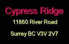 Cypress Ridge 11860 RIVER V3V 2V7