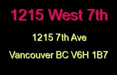 1215 West 7th 1215 7TH V6H 1B7