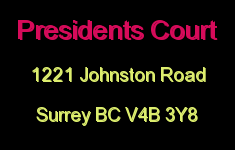 Presidents Court 1221 JOHNSTON V4B 3Y8