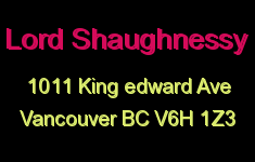Lord Shaughnessy 1011 KING EDWARD V6H 1Z3