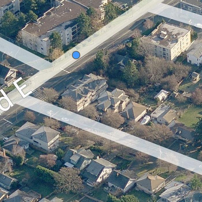 311 Burnside Rd E, Victoria, BC V9A 1A6, Canada Birds Eye!
