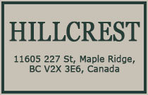 Hillcrest 11605 227TH V2X 3E6