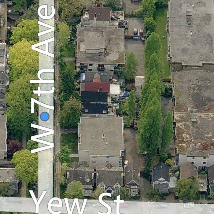 2239 West 7th Avenue, Vancouver, BC V6K 1Y3, Canada Birds Eye!