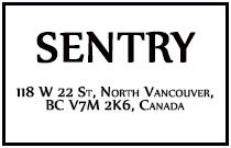 Sentry 118 22ND V7M 1Z9