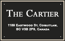 The Cartier 1189 EASTWOOD V3B 7N5