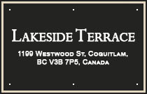 Lakeside Terrace 1199 WESTWOOD V3B 7P6