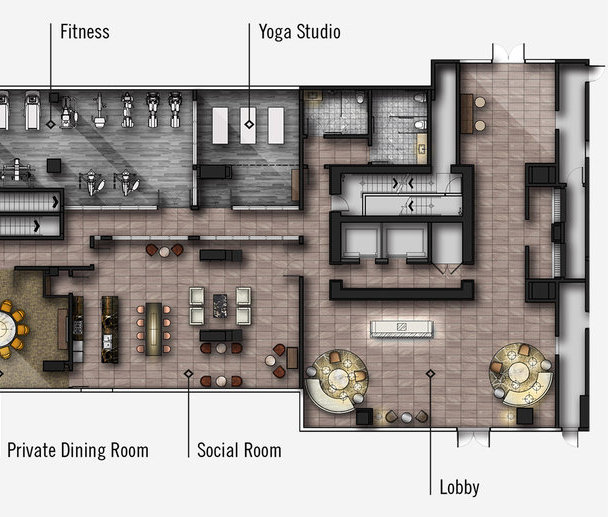 South Tower Fitness and Amenities!