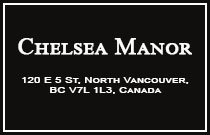 Chelsea Manor 120 5TH V7L 1L5