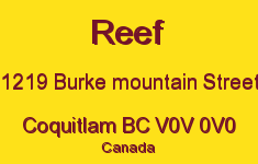 Reef 1219 BURKE MOUNTAIN V0V 0V0