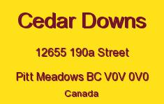 Cedar Downs 12655 190A V0V 0V0