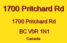 1700 Pritchard Rd 1700 Pritchard V0R 1N1