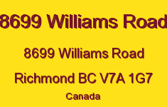 8699 Williams Road 8699 WILLIAMS V7A 1G7