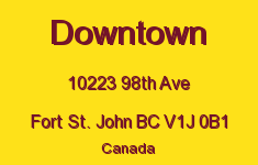Downtown 10223 98TH V1J 0B1