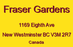 Fraser Gardens 1169 EIGHTH V3M 2R7