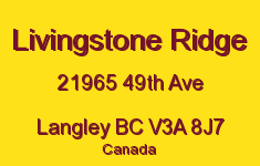 Livingstone Ridge 21965 49TH V3A 8J7