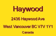 Haywood 2436 HAYWOOD V7V 1Y1