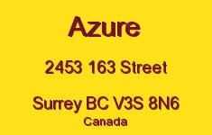Azure 2453 163 V3S 8N6