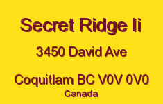Secret Ridge Ii 3450 DAVID V0V 0V0