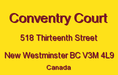 Conventry Court 518 THIRTEENTH V3M 4L9