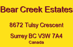 Bear Creek Estates 8672 TULSY V3W 7A4
