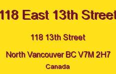 118 East 13th Street 118 13TH V7M 2H7