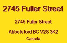 2745 Fuller Street 2745 FULLER V2S 3K2