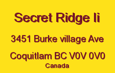 Secret Ridge Ii 3451 BURKE VILLAGE V0V 0V0