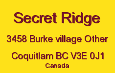 Secret Ridge 3458 BURKE VILLAGE V3E 0J1
