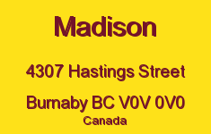 Madison 4307 HASTINGS V0V 0V0