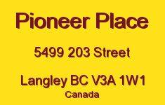 Pioneer Place 5499 203 V3A 1W1
