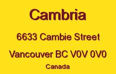 Cambria 6633 CAMBIE V0V 0V0