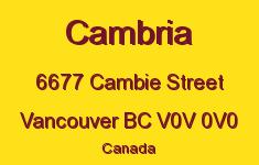 Cambria 6677 CAMBIE V0V 0V0