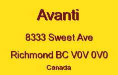 Avanti 8333 SWEET V0V 0V0