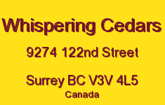 Whispering Cedars 9274 122ND V3V 4L5