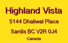 Highland Vista 5144 DHALIWAL V2R 0J4
