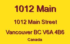 1012 Main 1012 MAIN V6A 4B6