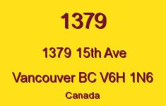 1379 1379 15TH V6H 1N6