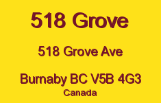 518 Grove 518 GROVE V5B 4G3