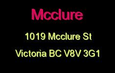 Mcclure 1019 McClure V8V 3G1