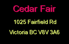 Cedar Fair 1025 Fairfield V8V 3A6