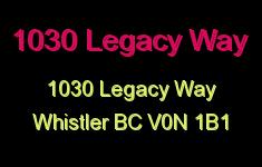 1030 Legacy Way 1030 LEGACY V0N 1B1