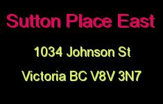 Sutton Place East 1034 Johnson V8V 3N7