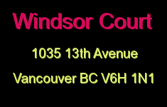 Windsor Court 1035 13TH V6H 1N1