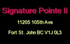 Signature Pointe Ii 11205 105TH V1J 0L3