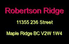 Robertson Ridge 11355 236 V2W 1W4