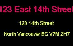 123 East 14th Street 123 14TH V7M 2H7