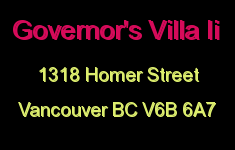 Governor's Villa Ii 1318 HOMER V6B 6A7