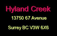 Hyland Creek 13750 67 V3W 6X6